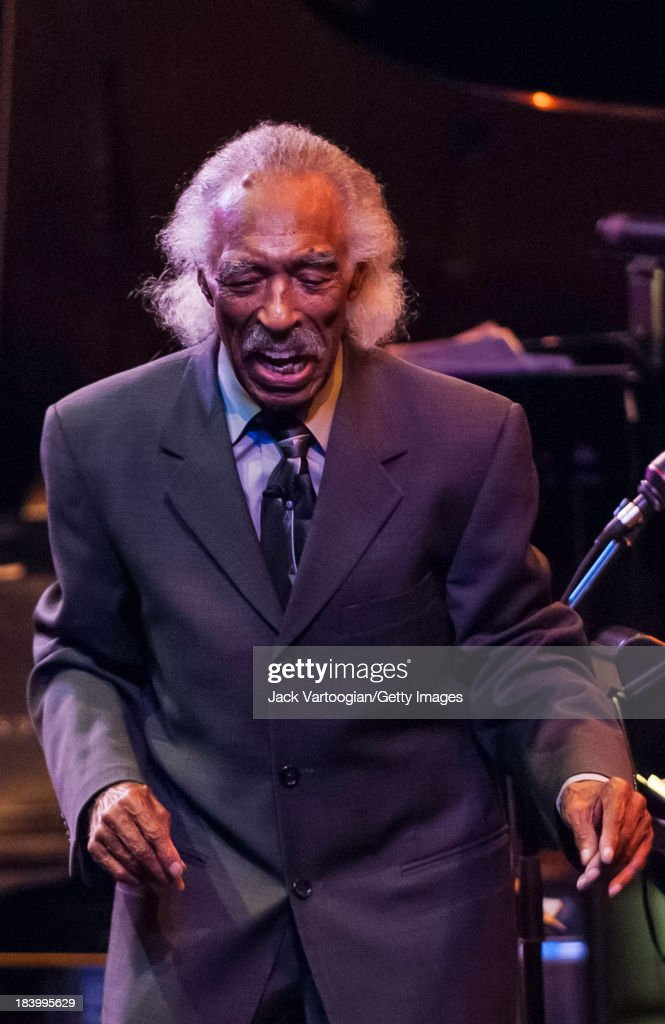 American bandleader arranger and composer Gerald Wilson leads the Lincoln Center Jazz Orchestra in a concert entitled 'Los Angeles Central Avenue...