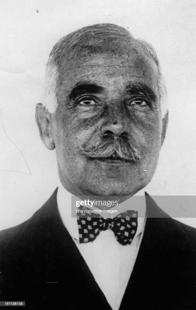 American banker and philanthropist Otto Hermann Kahn. Photograph. About 1930. (Photo by Imagno/Getty Images) Der amerikanische Bankier und Philantropist Otto Hermann Kahn. Photographie. Um 1930.