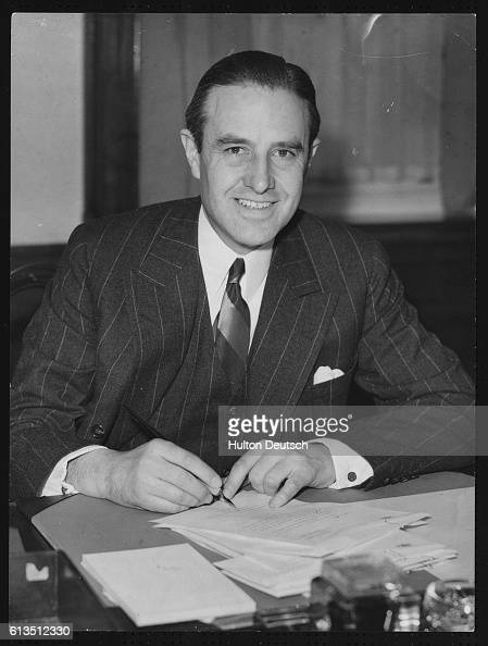 American banker politician and diplomat Mr Averell Harriman a personal envoy from President Roosevelt described as 'Defence Expediter' in London 1941