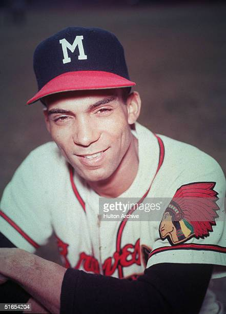 American baseball player Bill Bruton poses for a portrait in the uniform of the Milwaukee Braves early 1950s