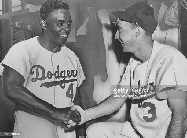 American baseball player Jackie Robinson of the Brooklyn Dodgers Baltimore Maryland 1947