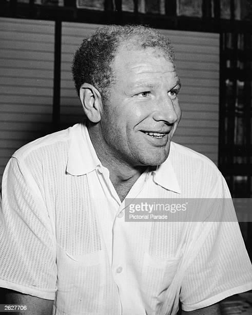 American baseball team owner and promoter Bill Veeck smiling 1950s