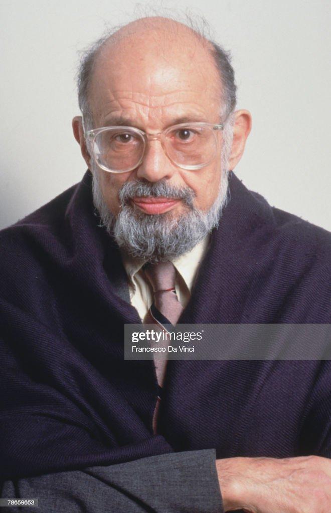 American beat poet Allen Ginsberg (1926 - 1997), circa 1985.