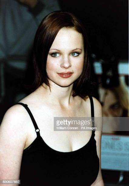 American Beauty actress Thora Birch arriving for the UK premiere of 'Bridget Jones Diary' at the Empire in London's Leicester Square