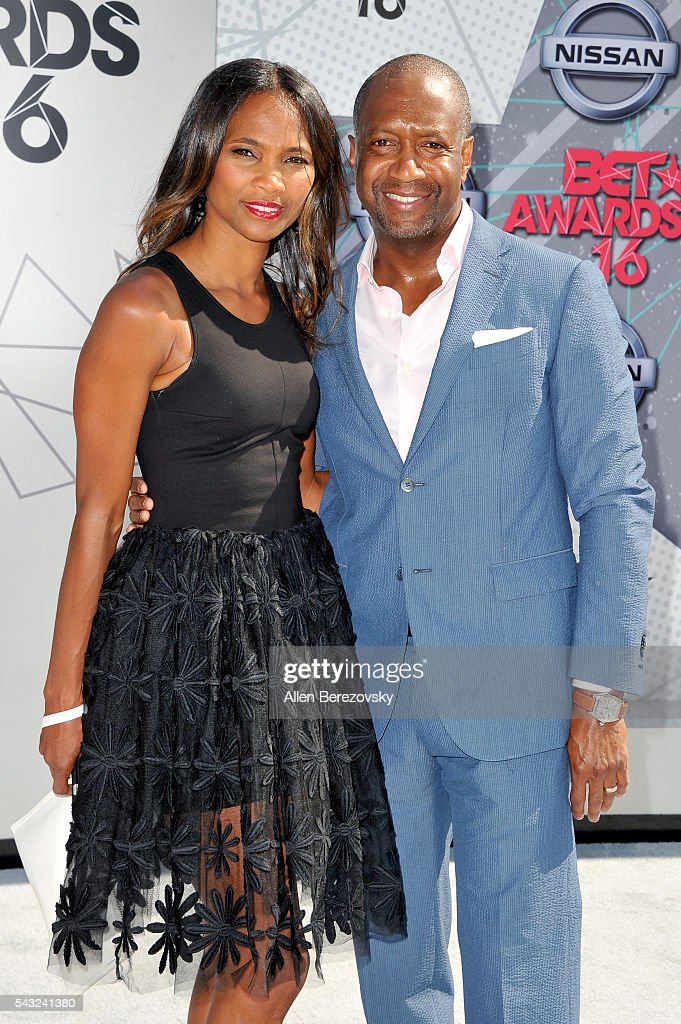 American Black Film Festival founder Jeff Friday (R) and Nicole Friday attend the 2016 BET Awards at Microsoft Theater on June 26, 2016 in Los Angeles, California.