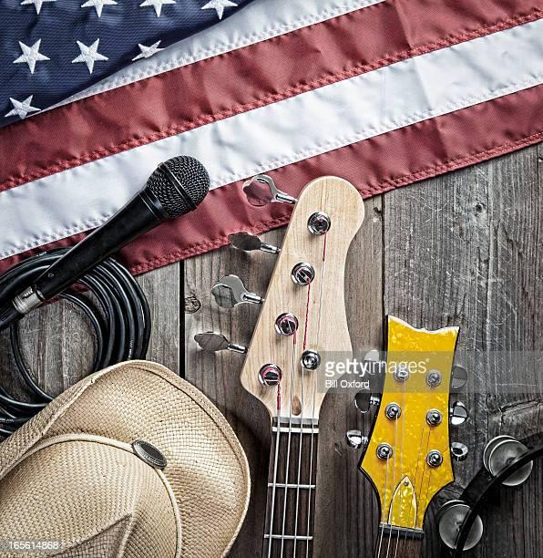 Amerikanische Blues. Country-Musik.