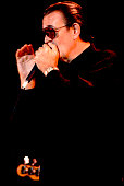 American Blues musician Charlie Musselwhite performs onstage Chicago Illinois June 8 1990