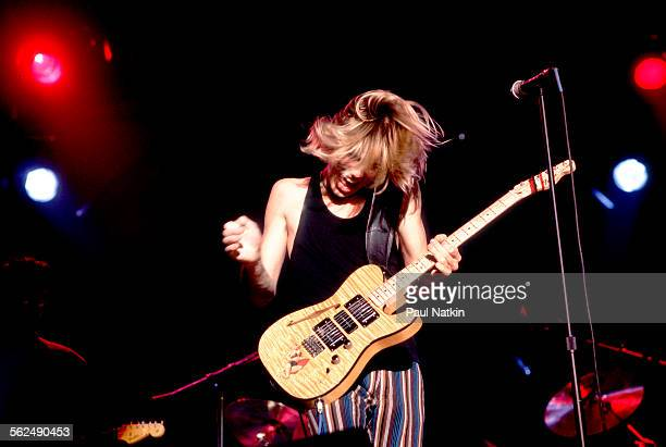 American Blues musician Jonny Lang performs on stage Chicago Illinois November 24 1997