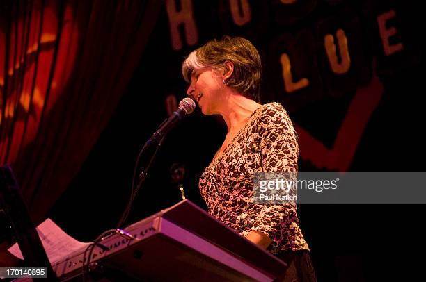 American blues musician Marcia Ball performs on stage during the Koko Taylor Benefit held at the House of Blues Chicago Illinois November 19 2006