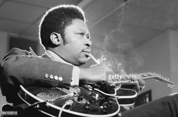 American blues singer and guitarist BB King working on his album 'BB King In London' June 1971