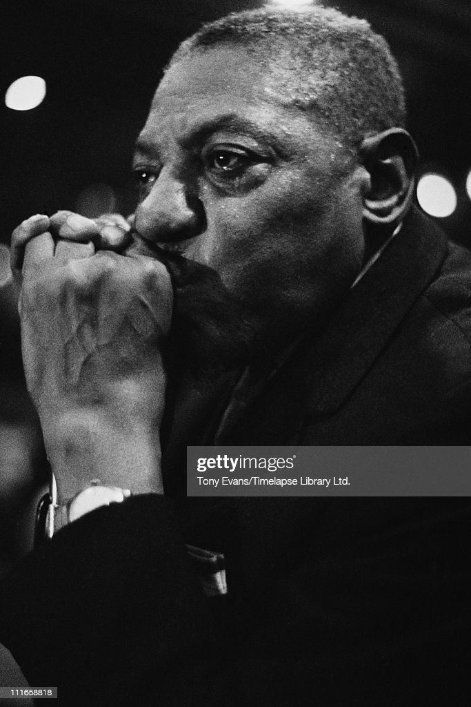 American blues singer and harmonica player Sonny Boy Williamson (Aleck 'Rice' Miller) (1908 - 1965) performs at the American Folk Blues Festival in London, 1963.