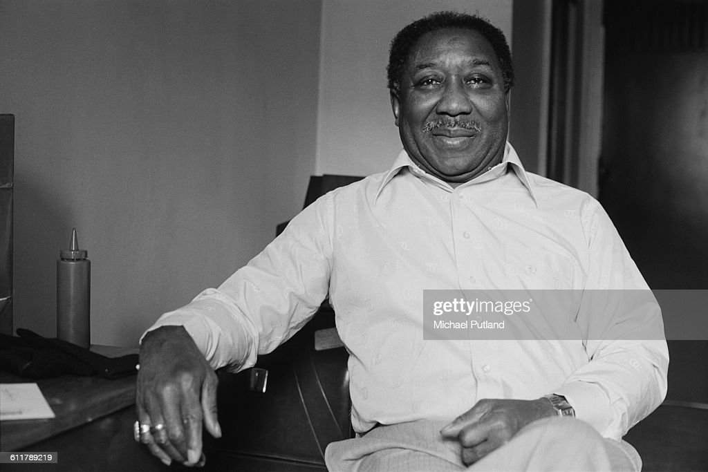 American blues singer, guitarist and bandleader Muddy Waters (1913 - 1983), USA, 1978.