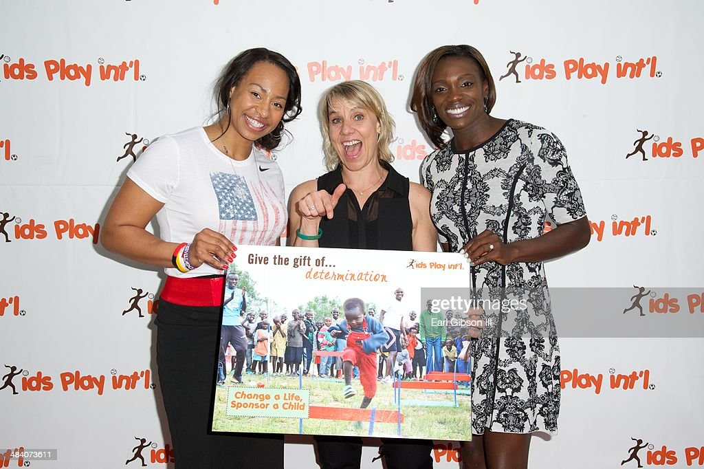 American Bobsledder Jazmine Fenlator, Tracy Evans and Dawn Harper (track and field athlete) attend the 5th Annual 'Cocktails For Kids Play' Fundraiser at Shade Hotel on April 10, 2014 in Manhattan Beach, California.