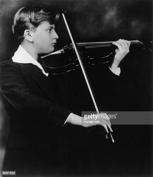 American born British violinist and child prodigy Yehudi Menuhin