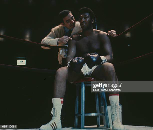American boxer and WBA champion Jimmy Ellis pictured together with his trainer Angelo Dundee at Madison Square Garden in New York in January 1970...