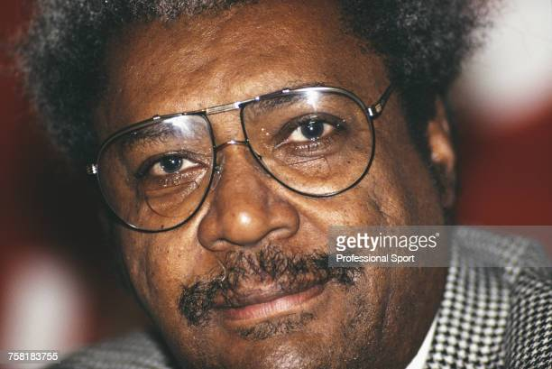 American boxing promoter Don King posed in 1993