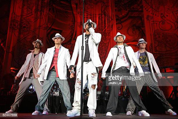 American boy band Backstreet Boys performs at the 'Force of Nature' concert in Kuala Lumpur 18 March 2005 The concert comprising mostly popular...