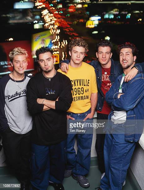 American boy band 'N Sync 2001 Left to right Lance Bass Chris Kirkpatrick Justin Timberlake JC Chasez and Joey Fatone