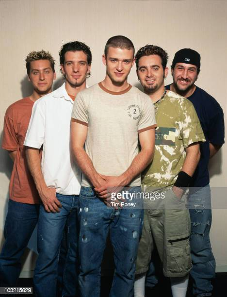 American boy band 'N Sync circa 2001 From left to right they are Lance Bass JC Chasez Justin Timberlake Chris Kirkpatrick and Joey Fatone