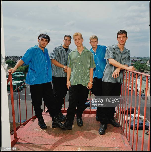 American boyband N'Sync pose for a group portrait in London in 1998 LR Chris Kirkpatrick Joey Fatone Lance Bass Justin Timberlake JC Chasez