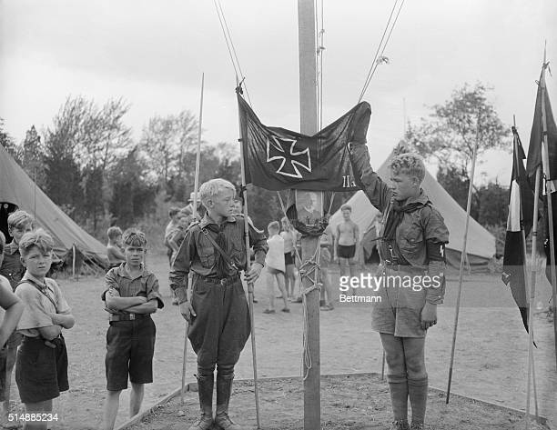 Nazi Youth Salute Hindenburg 1934 | Location Griggstown New Jersey