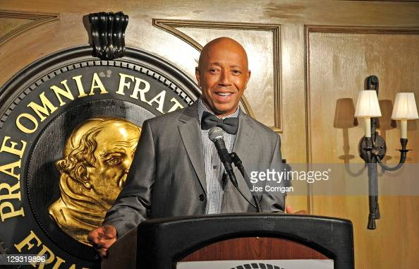 American business magnate Russell Simmons attends Outstanding Achievement in Comedy Award presentation during the 2011 Friars Club Comedy Film...