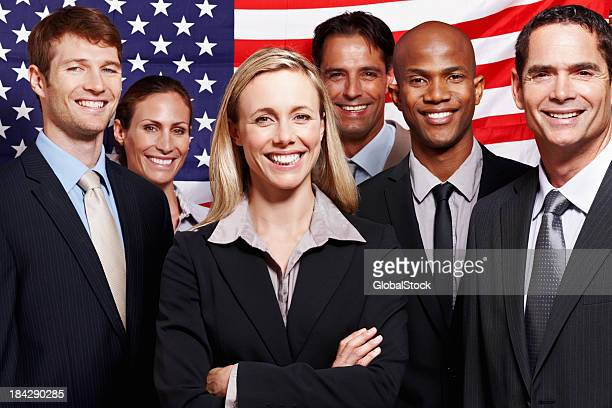 American business people