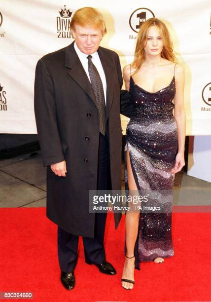 American business tycoon Donal trump with his girlfriend Melania Knauss at the VH1 Diva's 2000 the 3rd annual VH1 Diva's show which this year was a...