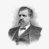 American businessman and mining entrepreneur James Clair Flood circa 1880