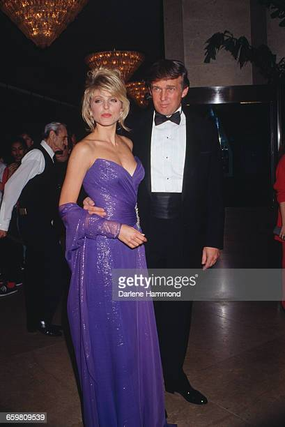 American businessman Donald Trump with American actress Marla Maples at the Soap Opera Digest Awards at the Beverly Hilton Hotel in Beverly Hills...