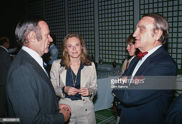 American businessman Preston Robert Tisch with American editor of Town Country magazine Frank Zachary at the Hotel de Paris Monaco May 1977