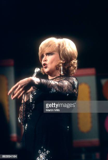 American businesswoman and singer Edie Adams sings during the taping of 'The Dean Martin Variety Show' circa 1967 in Hollywood California