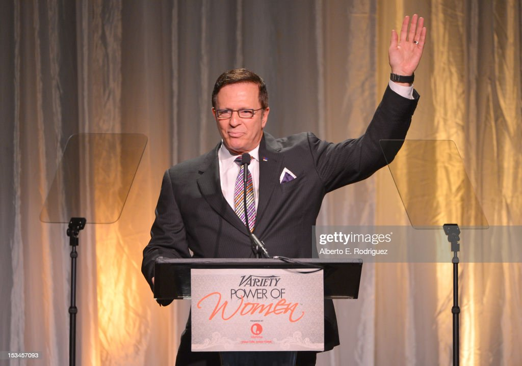 American Cancer Society of California EVP, David F. Veneziano, speaks onstage at Variety's 4th Annual Power of Women Event Presented by Lifetime at the Beverly Wilshire Four Seasons Hotel on October 5, 2012 in Beverly Hills, California.