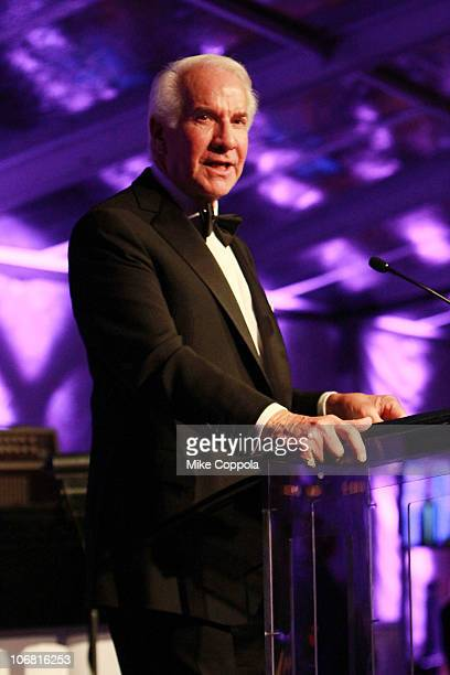 American Chairman of Comcast Ed Snider speaks onstage at the National Museum of American Jewish History opening gala hosted by Jerry Seinfeld and...