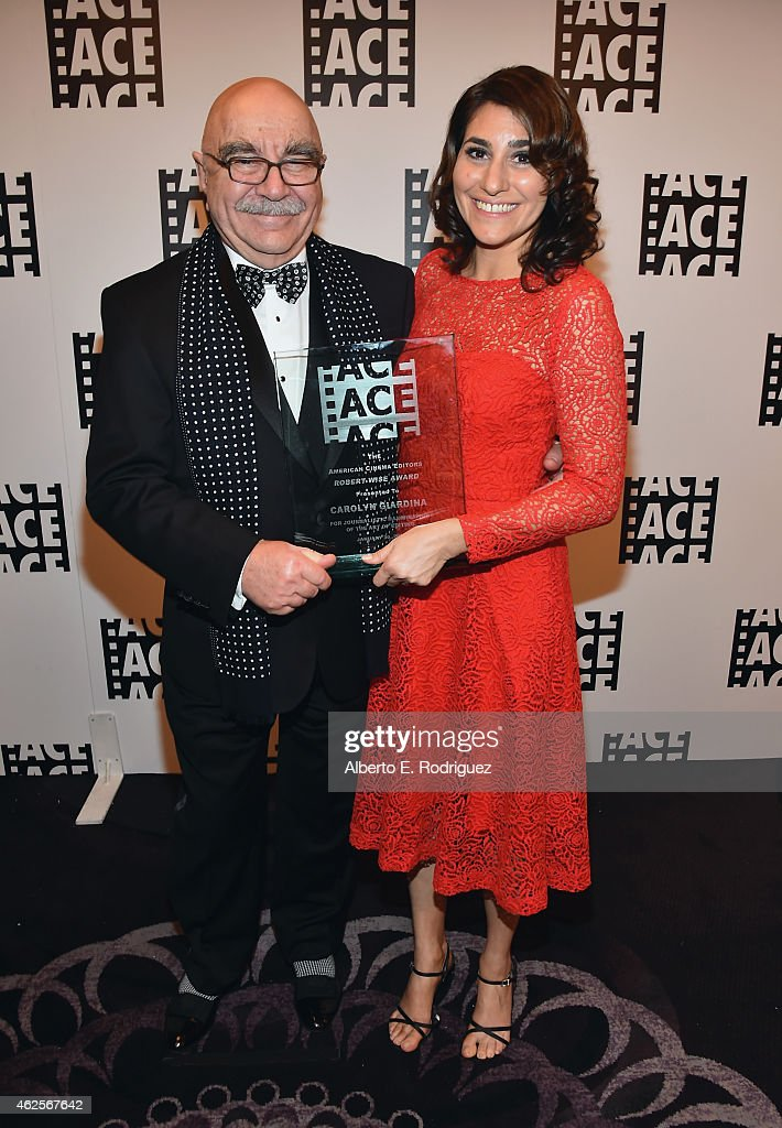 American Cinema Editors President Alan Heim and Journalist Carolyn Giardina attend the 65th Annual ACE Eddie Awards at The Beverly Hilton Hotel on...