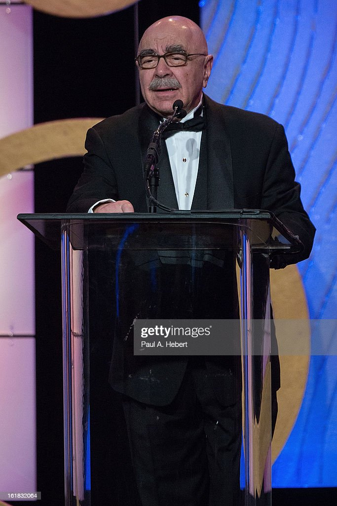 American Cinema Editors Vice President Alan Heim ACE on stage during the 63rd Annual ACE Eddie Awards held at The Beverly Hilton Hotel on February 16...