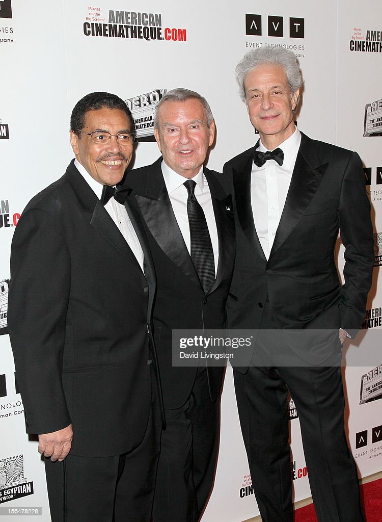 American Cinematheque President Henry Shields Jr., Chicago International Film Festival Founder and Artistic Director Michael Kutza and American Cinematheque Chairman Rick Nicita attends the 26th American Cinematheque Award Gala honoring Ben Stiller at The Beverly Hilton Hotel on November 15, 2012 in Beverly Hills, California.