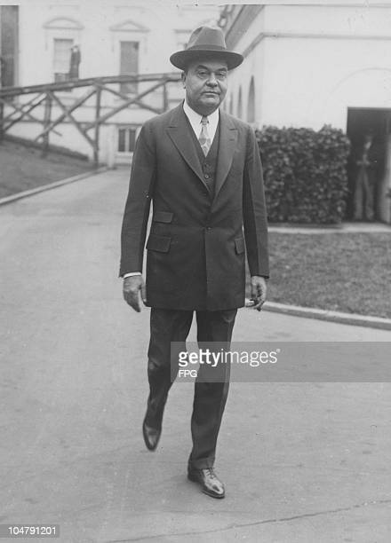 American circus magnate John Ringling leaves the White House after inviting President Calvin Coolidge and his wife to the Washington opening of the...