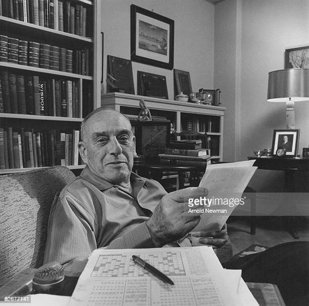 American city planner Robert Moses poses for portrait in his office New York New York April 8 1964