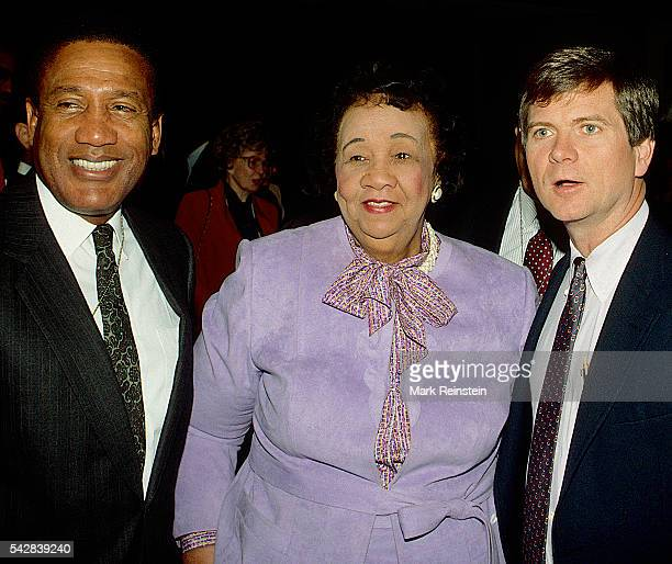 American Civil Rights activist and educator Dorothy Height and political strategist Lee Atwater pose together as attend a Martin Luther King Jr Day...
