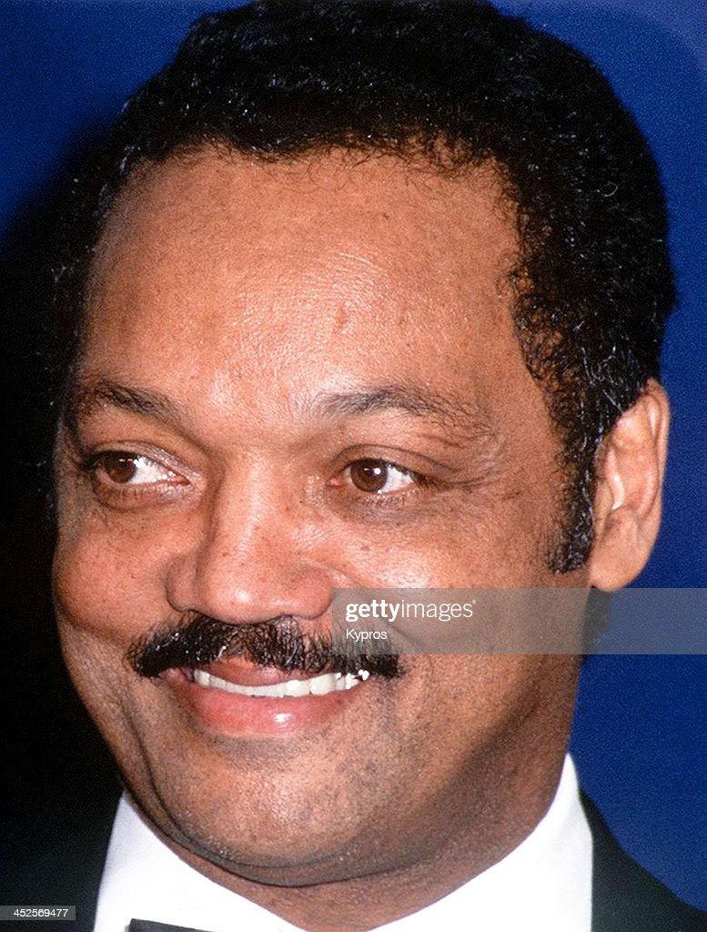 American civil rights activist and minister Jesse Jackson, circa 1990.