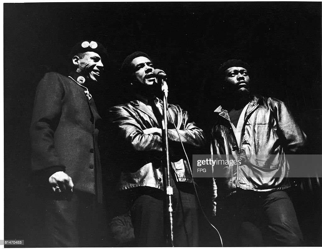 American civil rights activist Bobby Seale cofounder of the Black Panther Party speaks in New York City 1969