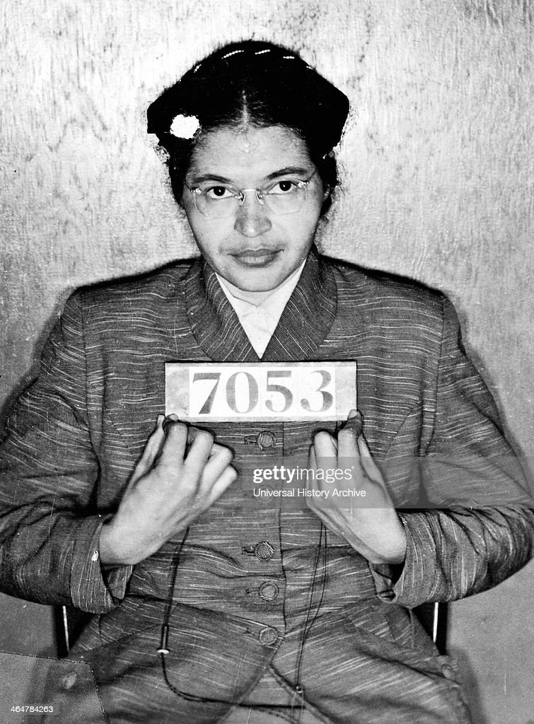 """On December 1, 1955, in Montgomery, Alabama, Rosa Parks refused to give up her seat in the """"colored section"""" of a bus to a white passenger. Her arrest and trial would become a defining moment of the movement for Civil Rights"""