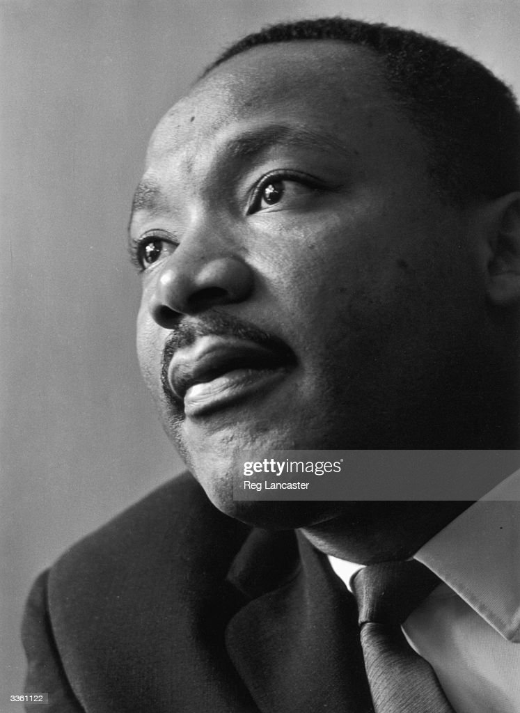 American civil rights campaigner Martin Luther King Jnr