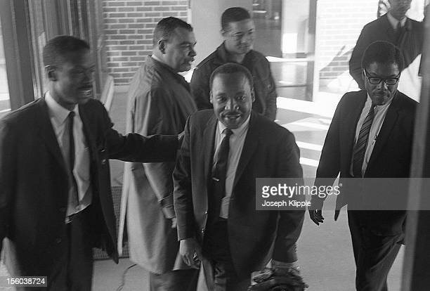 American Civil Rights leader Dr Martin Luther King Jr and others enter the New York Avenue Presbyterian Church Washington DC February 6 1968 Also...
