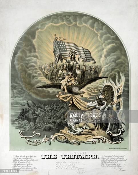 Triumph by Morris Traubel 18201897 Published c1861 A large elaborate allegory predicting the triumph of the Union over the dark forces of the...
