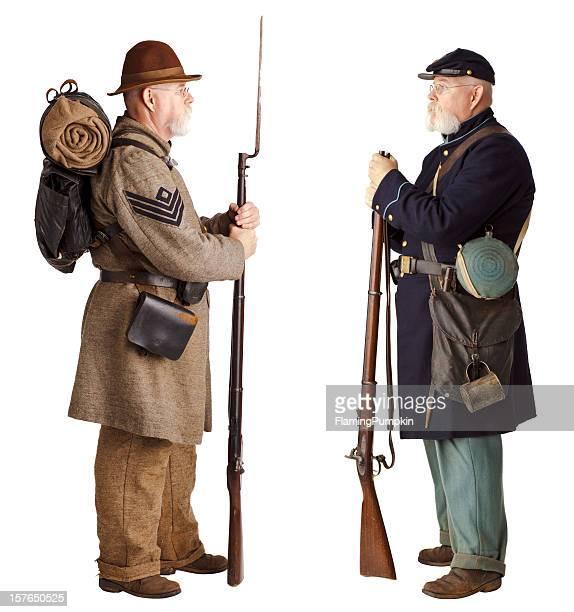 アメリカ南北戦争-兄弟にオフになります。