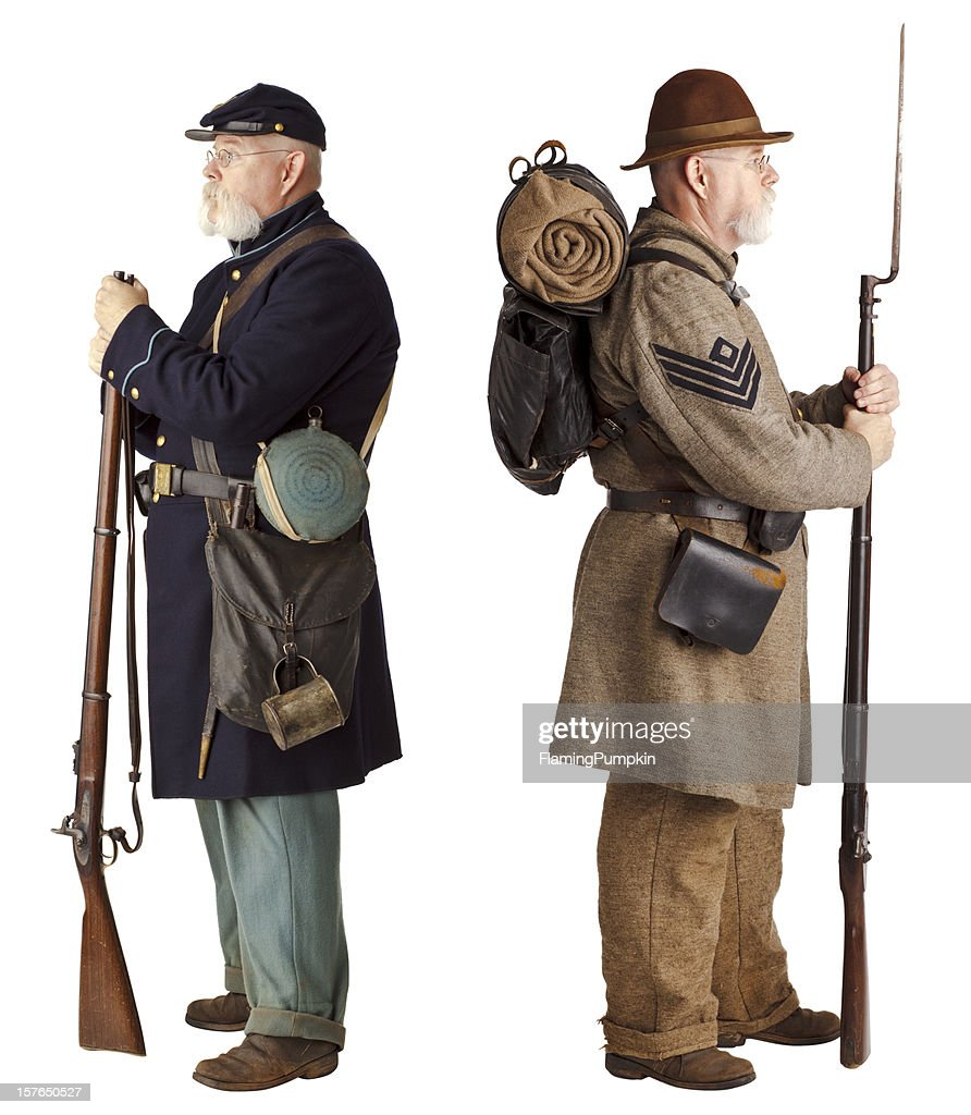 American Civil War - Brothers turning their back.