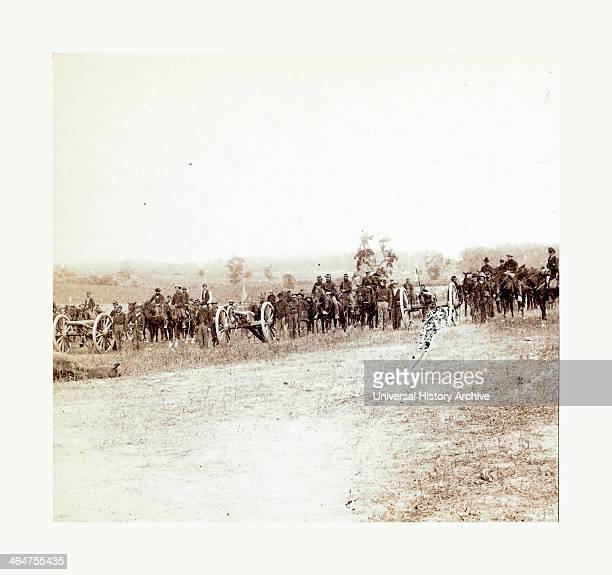 Captain J M Knap's Pennsylvania Independent Battery E Light Artillery Approaching The Battlefield At Antietam Maryland After The Battle In September...