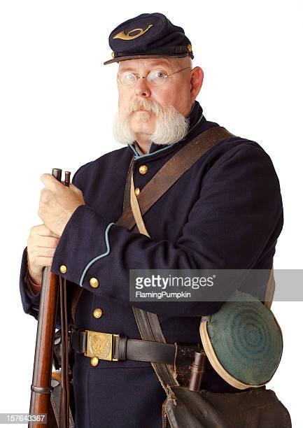 アメリカ南北戦争ユニオンミナミコメツキ白色の背景にしています。